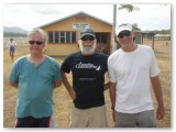 Me, the captain and sandy at Lockhardt River airport